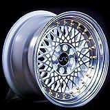 4 bolt gold rims - JNC031 White Machined Face Gold Rivets 16x8 4x100 4x114.3 ET20 Offset Wheel Rim