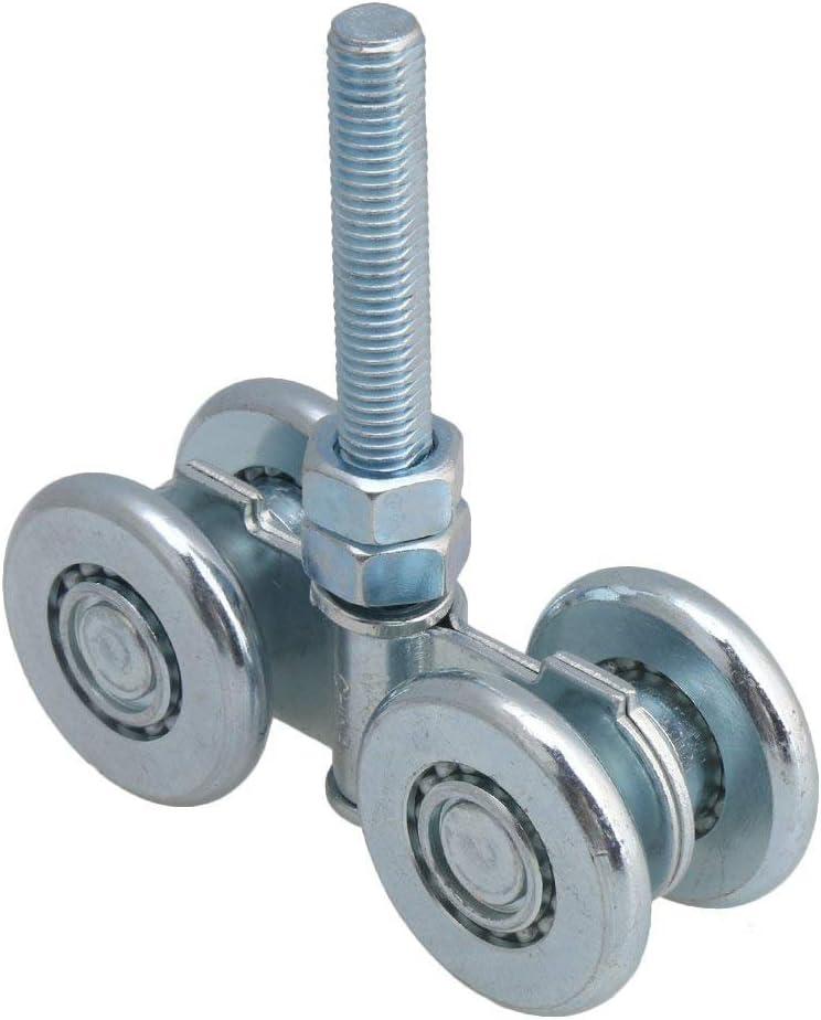 Double Wheel Rail Hanging Trolley Sliding Track Roller for Door Steel H3-1