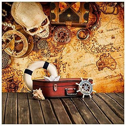 Amazoncom Azutura Vintage Treasure Map Wall Mural Pirate