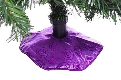 mini purple christmas tree skirt 12