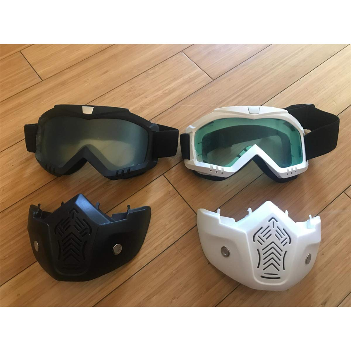motocicleta TacticaL Mask compatible con Nref Blasters Siwetg Paquete de 2 m/áscaras faciales