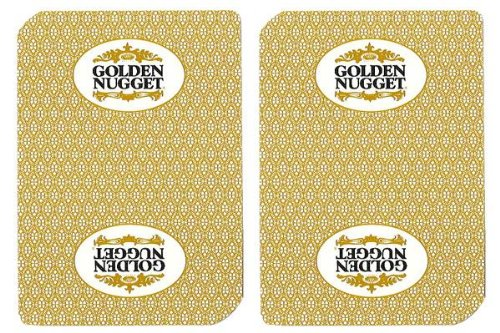 Golden Nugget Casino Chips (Single Deck Used in Casino Playing Cards - Golden Nugget)