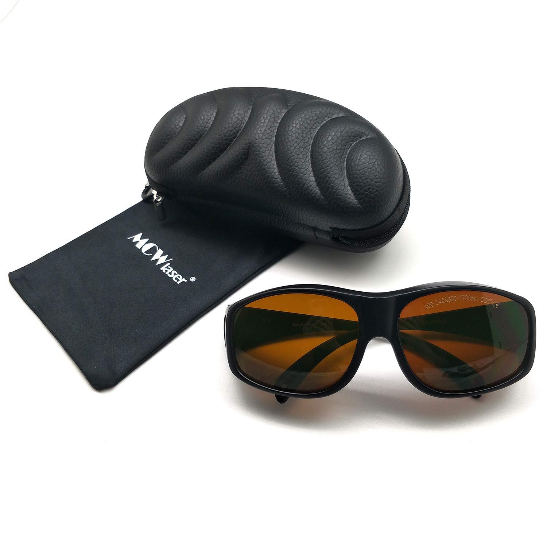 MCWlaser Gafas protectoras de seguridad láser Gafas 190-540 y 800-1700nm Típico para 355nm 405nm 445nm 450nm 473nm 520nm 532nm 808nm 980nm 1064nm Tipo de absorción EP-1 Estilo 9