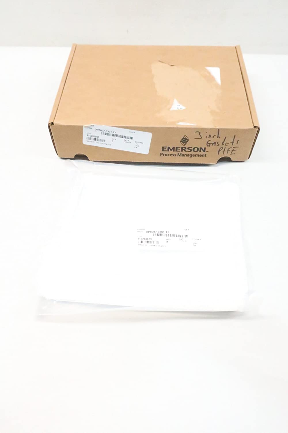 Box of 3 New EMERSON DP0007-0301-TF PTFE Gasket 3IN D623999