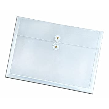globe weispendaflex side opening poly envelopes letter size string closure