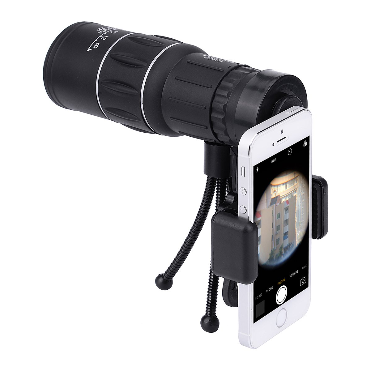 DJS Monocular Telescope 16x52 High Power Prism Scope Telescopio Smartphone Holder Mount Adapter Tripod Hunting Sports Outdoors Wildlife Travel by DJS