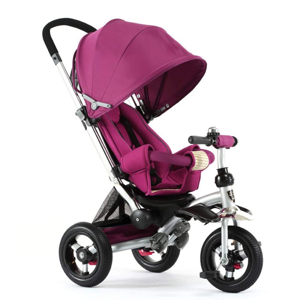 autorización púrpura MIAO CODE Triciclo para para para Niños 3 En 1 con Toldo De Bicicleta Ajustable para Niños Trike Adecuado para Niños De 12 Meses A 5 Años,púrpura  Precio al por mayor y calidad confiable.