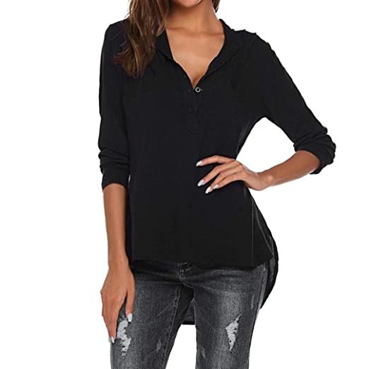 Big Promotion! Clearance Sale! Seaintheson Womens Fashion V-Neck Long Sleeve Shirts Solid Casual Blouse Loose Tops: Amazon.com: Grocery & Gourmet Food