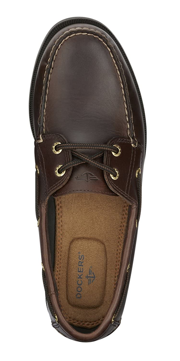 3cca9d2e6a Amazon.com | Dockers Men's Vargas Leather Handsewn Boat Shoe | Loafers &  Slip-Ons