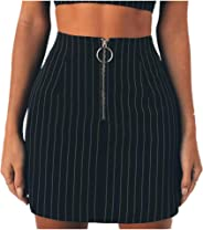 CakeLY Women's Party Cocktail Skirt Pencil Skirt Ladies Printed Striped Skirt A Line Skirt