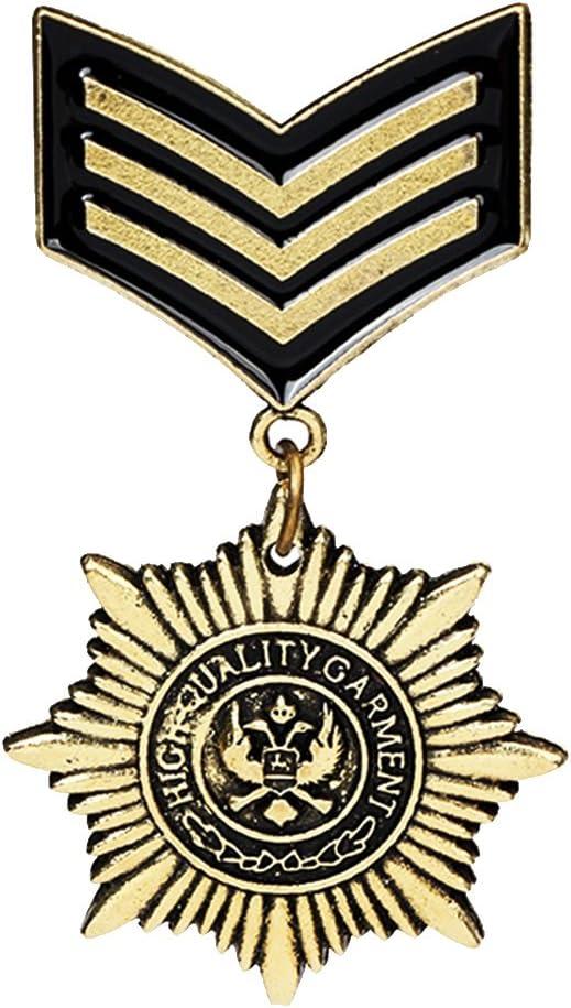 Gazechimp Punky Pin Broche de Medalla de Uniforme Militar Gótica de Hombres: Amazon.es: Juguetes y juegos