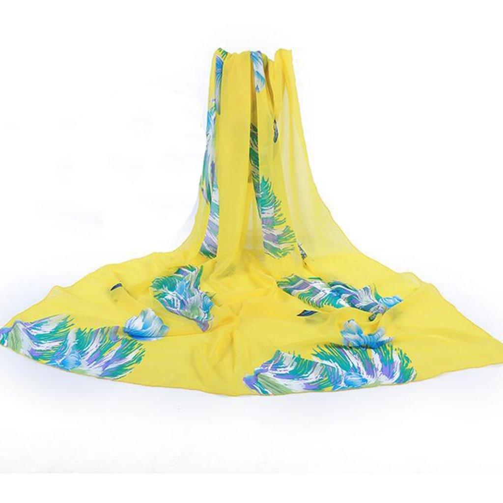 Moda impresión Bufandas Larga sección chal playa Protector solar playa Bufandas