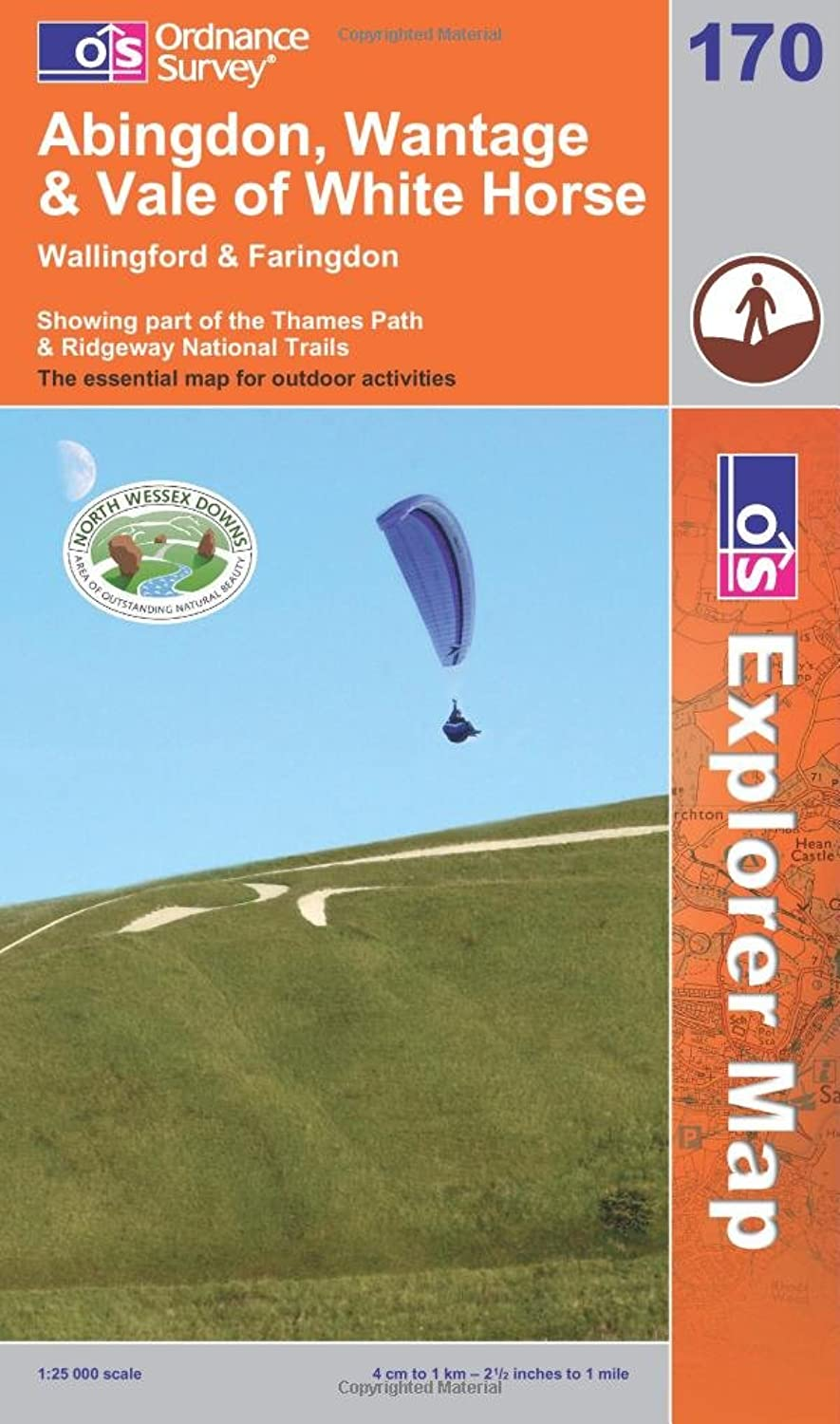 Abingdon Wantage and Vale of White Horse OS Explorer Map Amazon