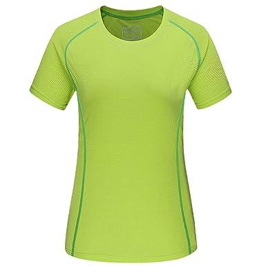 Damen Übergröße aktiv T-Shirt Laufen Fitness schnelltrocknend Kurzarm Oben  Sport Abschlag c3a816d8d1