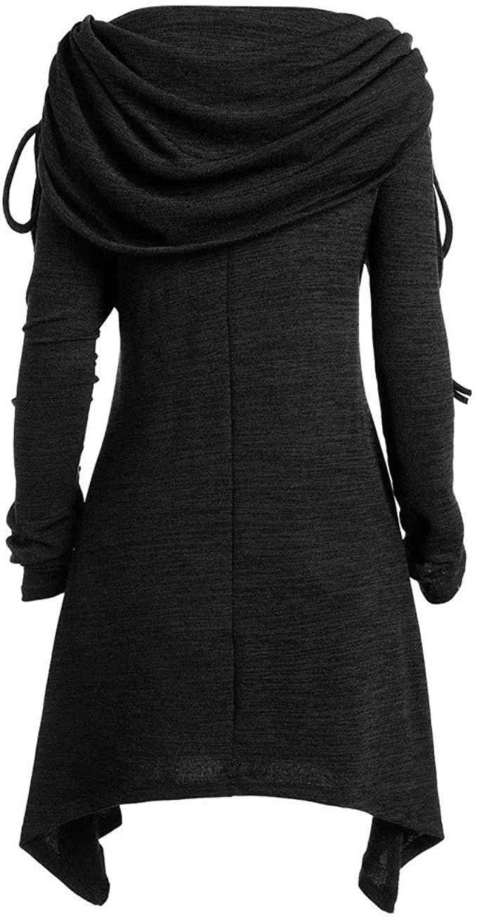Uefaof Dropshipping Plus Size O Collar Splicing Long Sleeve Cashmere Thickening Ruched Knee-Length Warm Sweater Dress
