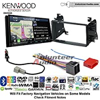 Volunteer Audio Kenwood Excelon DNX994S Double Din Radio Install Kit with GPS Navigation Apple CarPlay Android Auto Fits 2008-2014 Kia Sedona, 2009-2010 Kia Optima
