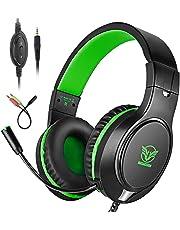 Bovon Cuffie Gaming per PS4/ Xbox One/PC/Nintendo Switch/Mac/Smartphone/iPad, Cuffie PS4 da Gaming Over Ear con Microfono 3.5mm Stereo Surround, Cancellazione Rumore, Controllo del Volume