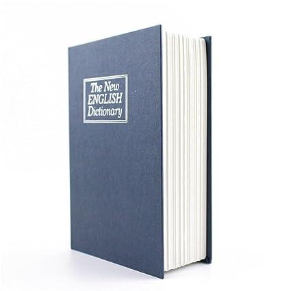 Baffect - voluminosa caja fuerte simulada en diccionario de inglés, libro secreto;