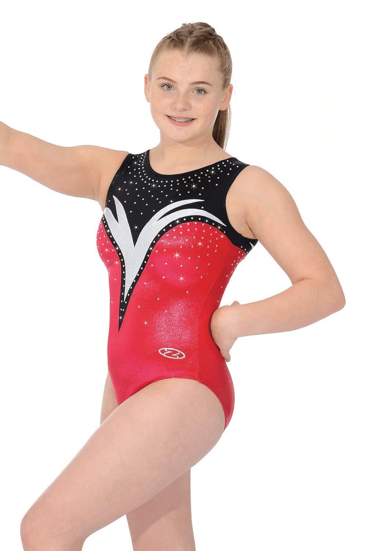 854a99092a13 The Zone Athena Girls  Sleeveless Gymnastics Leotard  Amazon.co.uk ...