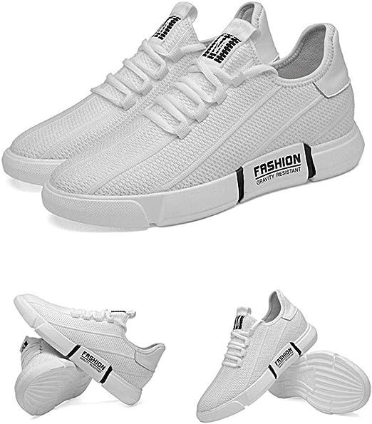 Y-H - Zapatillas de Running para Hombre Blanco Blanco 43: Amazon.es: Jardín