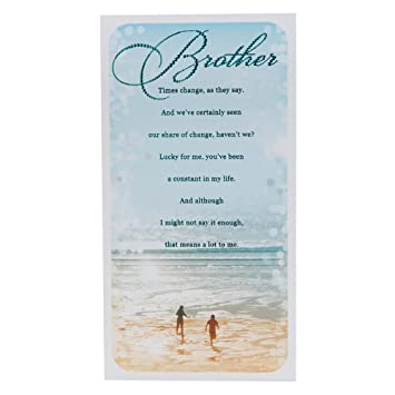 Hallmark Birthday Card For Brother You Mean A Lot To Me Medium