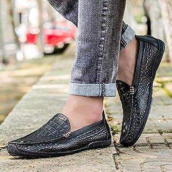 LOVDRAM Zapatos De Cuero para Hombre Zapatos De Guisantes