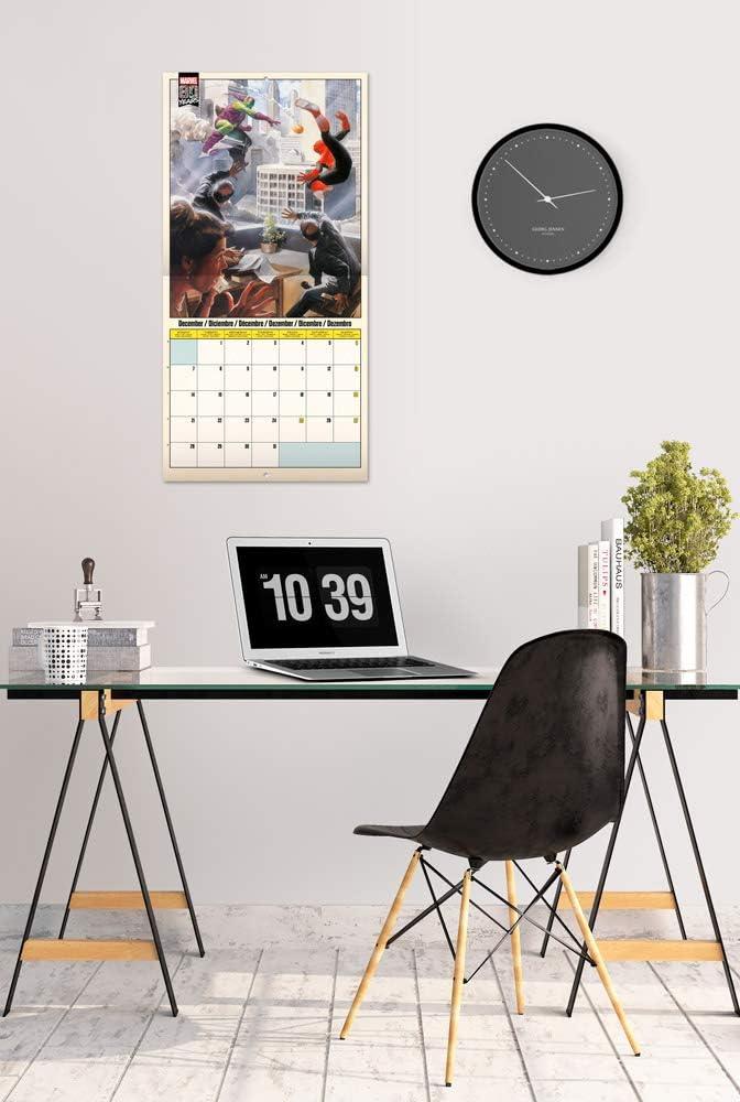 12 Months 30 x 30cm Marvel Avengers 2020 Wall Calendar ERIK Free Poster Included