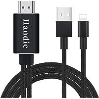 【Handic令和2019最新版】LightningHDMI iphoneHDMI変換 ケーブル iPhon/iPad/iPodをテレビ出力 ライトニング HDMI接続 アダプター 最新iOS12対応