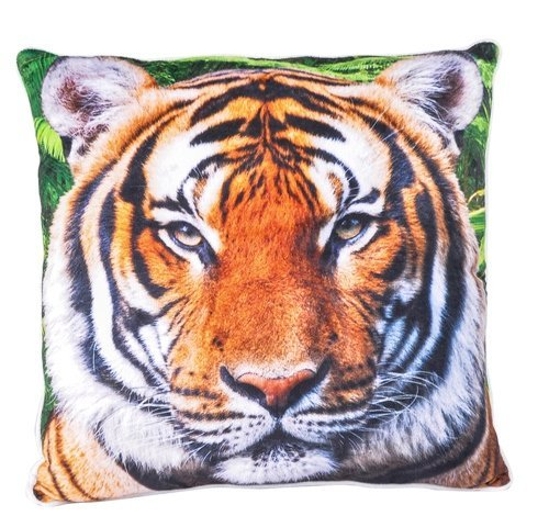 """Custom Designed African Tiger 13"""" Accent Throw Pillow"""