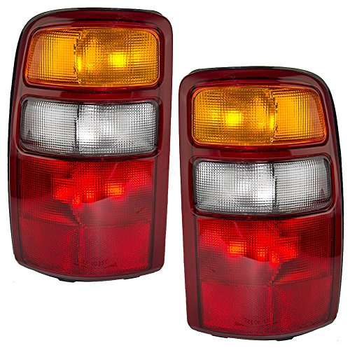 Driver and Passenger Taillights Tail Lamps Replacement for Chevrolet GMC SUV 15198449 (Tahoe Tail Lights Lamps)