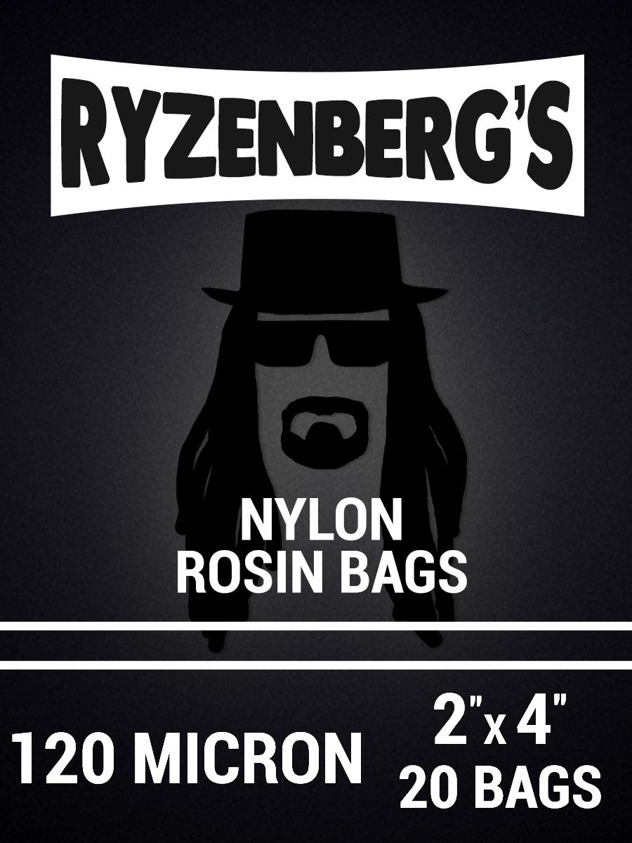 Rosin Press Bags/Rosin Filters (120 Micron/120u) 2'' x 4'' Inch (20 Pack) By Ryzenberg's by Ryzenberg Products