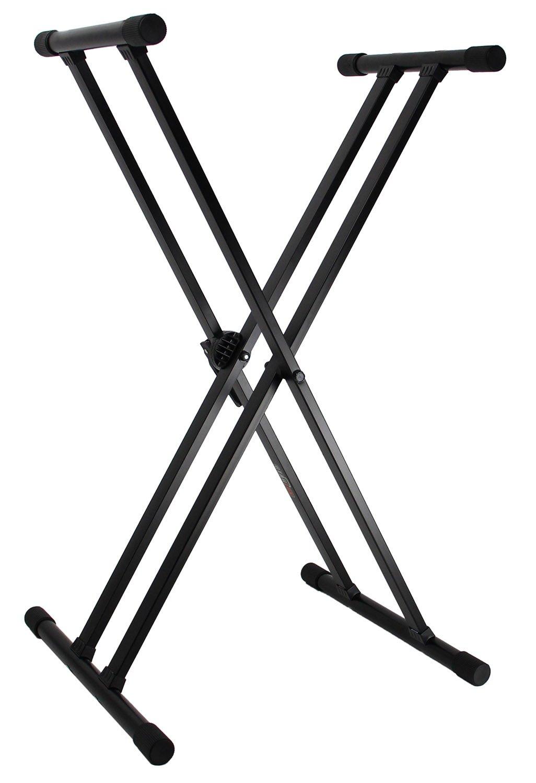 Gearlux Adjustable Single-Braced Keyboard Stand - Black KBS100