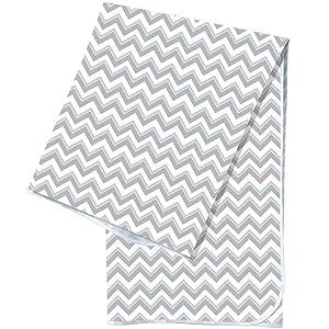 Youngever 42 Inch x 42 Inch Washable Highchair Splat Floor Mat, Splash Mess Mat, Food Catcher Art Craft Leak Proof Mat (Grey Wave)