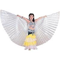 Meisjes Egyptische buikdans vleugels 360 graden vleugels kostuum met telescoopstang voor dames - grote partij…