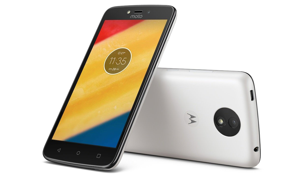 Motorola Moto C 3G H+ Unlocked XT1750 Quad Core 8GB Android 7.0 Dual Sim 5 Inch International Version (Pearl White) by Motorola (Image #1)