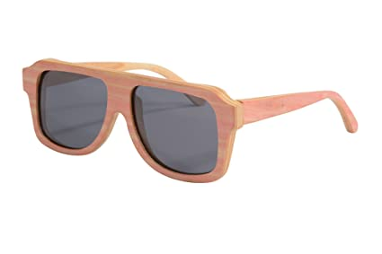 SHINU HACHATE Preto Woody Sonnenbrillen übergroßen Sonnenbrillen Retro Polyarized6043 (grey) DPSxS