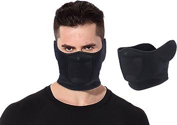 masque facial en noir parfait pour l'hiver