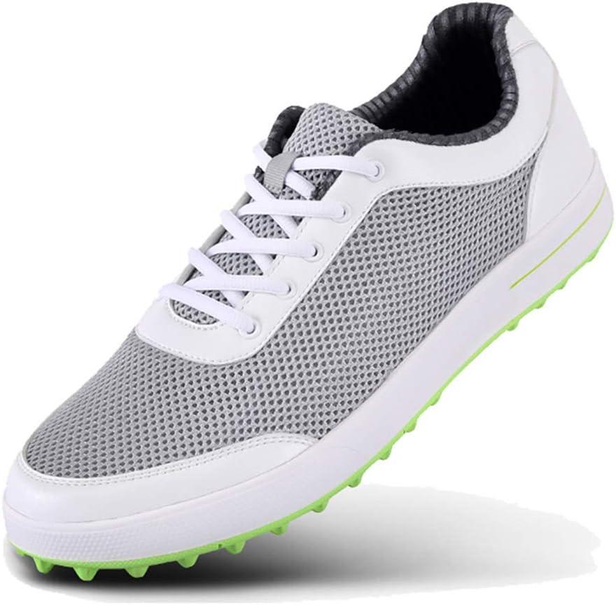 PGM - Zapatillas de golf para hombre, peso ligero, piel sintética ...