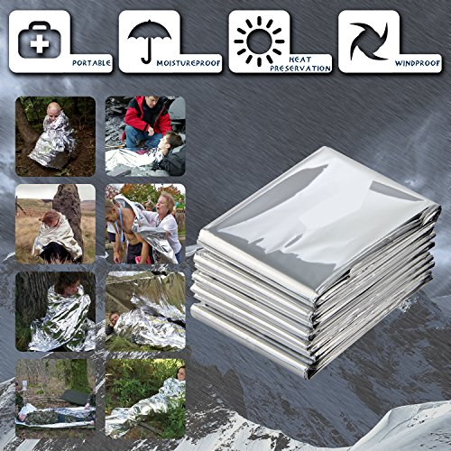 6-Pack-82-X-62-PAMASE-Extra-Large-Mylar-EmergencySurvival-Blanket-Moistureproof-and-90-Heat-Retention