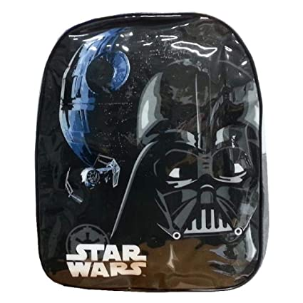 Disney Star Wars - Mochila Infantil, diseño de Darth Vader, Color Negro