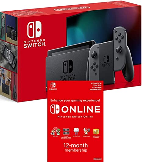 Nintendo Switch Grey Switch Online 12 Months Download Code Amazon Co Uk Pc Video Games