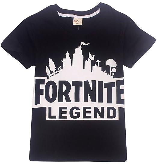 EmilyLe Premium Kids Fortnite Heros Short Sleeve Tee Novelty Boys Girls T Shirt(120cm,