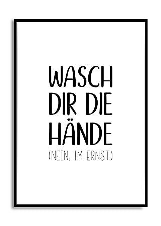 Fine -Art typo Spruch für Toilette, WC, Badezimmer WASCH DIR DIE ...