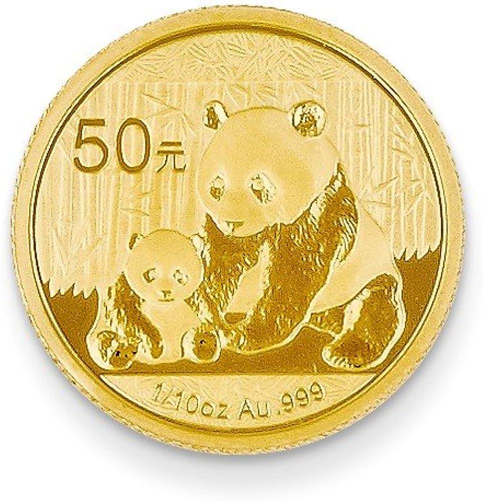 Moneda colgante de oro amarillo de 24 quilates 50 YUAN: Amazon.es: Ropa y accesorios