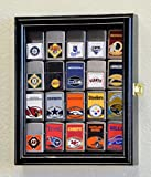 XS Zippo Lighter Display Case Cabinet Holder Rack w/ UV Protection, Black