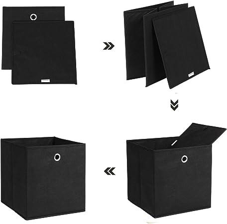 SONGMICS Juego de 6 Cajas de Almacenamiento, Cubos Plegables de ...