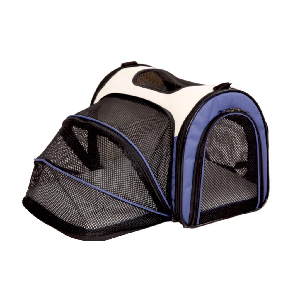 bluee 503033cm bluee 503033cm Yuan Pet Carrier Cat Cage Cat Bag Dog Bag Dog Backpack Pet Outing Package Outgoing Portable Dog Bag Outdoor Pet Supplies  & (color   bluee, Size   50  30  33cm)