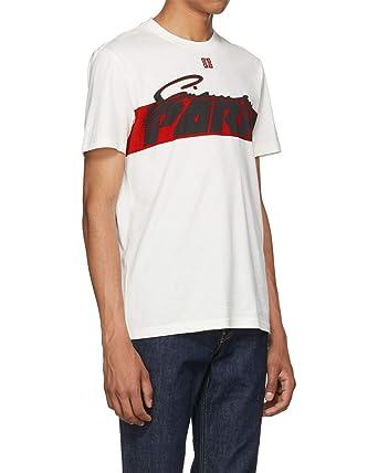 Givenchy - Camiseta de Algodón para Hombre Motocross - Blanco, M: Amazon.es: Ropa y accesorios