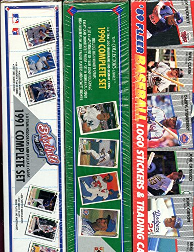 [1989 Fleer 1990 1991 Upper Deck Baseball Card Complete SEALED Box Set Collection] (1991 Donruss Baseball)