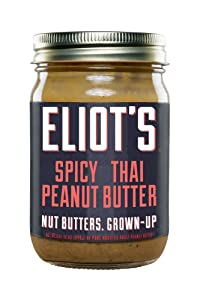 Eliot's Nut Butters Spicy Thai Peanut Butter, Non-GMO, Gluten Free, Vegan, Keto and Paleo Friendly, 12 Ounce